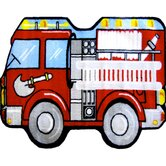 Fun Shape High Pile Fire Truck Kids Rug