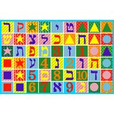Fun Time Hebrew Numbers and Letters Educational Kids Rug