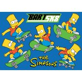 The Simpsons Bart SK8 Blue Kids Rug