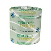 "Green Heritage Toilet 4.7"" Tissue, 1-Ply, 1000/Roll"