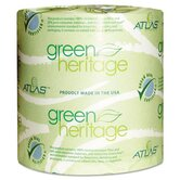Atlas Paper Mills Green Heritage Bathroom Tissue, 2-Ply, 500 Sheets, 96 Per Carton