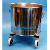 Stainless Steel 5 Gallon Round Mop Bucket with 2&quot; Casters