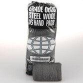 Industrial Quality Steel Wool Hand Pad, Super Fine   16/Pack