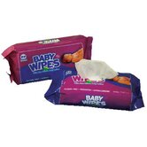 Baby Wipes Refill Pack with Scented in White  - 80/Pack