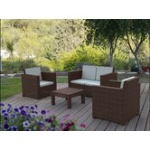 Lauren 4 Piece Seating Group with Cushion
