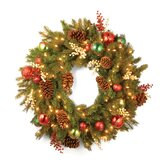 "Pre-Lit 30"" Home for the Holidays Wreath"