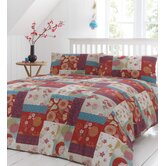 Oriental Patchwork Duvet Cover Set in Spice