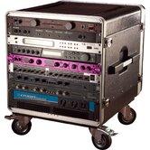 Slant Top Rack Base with Casters, for Console Audio Rack