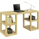 Deluxe Parsons Writing Desk with 4 Storage Shelves