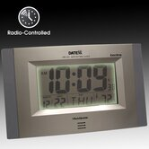 Radio Control Wall Clock with LCD Calendar, Temperature
