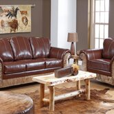 Saddle Me Up Leather Sofa and Chair Set