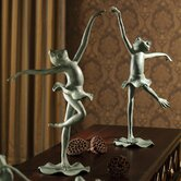 Ballet Frogs Pair Statue