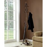 Fleur de Lis Coat Rack with Umbrella Stand