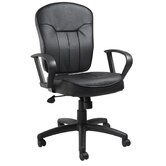 Mid-Back LeatherPlus Task Chair optional Arms