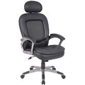 High-Back Executive Chair with Padded Headrest