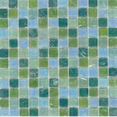 "Elida Glass 12"" x 12"" Mosaic in Mint Oil"