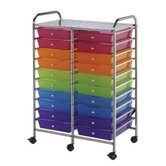 Blue Hills Studio Storage Cart with Twenty Multicolor Drawers