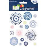 Colorstories Radial Cardstock Stickers (Set of 16)