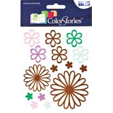 Colorstories Embossed Daisy Stickers (Set of 15)