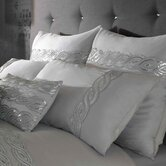 Sequins Wave Silver Feather Filled Boudoir Cushion