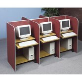 Tackable Fabric and Aluminum Floor Study Carrel Desk