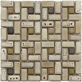 Essentia 12&quot; x 12&quot; Ceramic Spiral Mosaic in Sierra