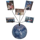 Girly Chic Tie Dye Peace Sign Table Photo Bubble