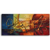 "Hand Painted ""Cubism Rainbow Panel"" Oil Canvas Art Set"