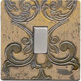 Switch Cover in Beige Stone with Metal