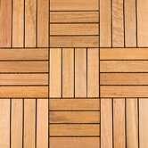 "12"" x 12"" Wood Deck Tiles in Copacabana Itauba"