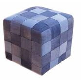 Cargo Pouffe in Distressed Blue