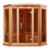 3 Person Far Infrared Carbon Corner Cedar Sauna