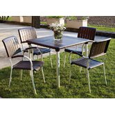 Maestrale 90cm Table with Optional  Musa Chairs Set in Coffee