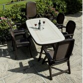 Toscana 165cm Ravenna Table with optional Beta and Delta Chairs in Coffee