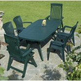 Toscana 165cm Plain Table with Optional Flora Chairs And Diana Chairs in Green