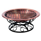 Fall Leaf Scroll Fire Pit