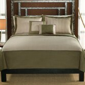 Barclay Twin Quilt with Pillow Sham in Sage / Tan