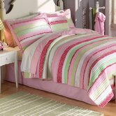 Annas Ruffle with Pillow Shams in Pink