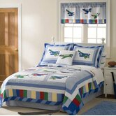 Fly Away Quilt with Pillow Sham, Sheet Set, Pillow, and Valance