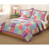 Kelsey Pink Quilt with Pillow Sham
