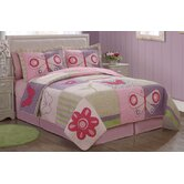 Pink Butterfly Flower Bedding Set