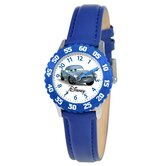 Kid's Cars Time Teacher Watch in Blue with Blue Bezel