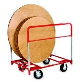 "XL Round Table Mover with All Swivel and 8"" Pneumatic Casters"