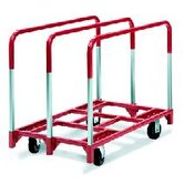 Panel Mover 8&quot; Quiet Poly Casters, All Swivel, 3 Standard Uprights