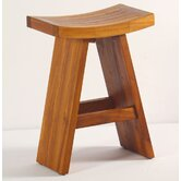 Asiana Teak Bistro Counter Height Stool