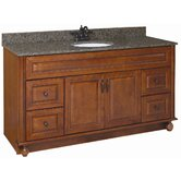 Montclair 60&quot; x 21&quot; Double Door Vanity Cabinet with Double Bowl Top