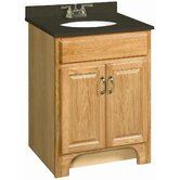 "Richland 24"" x 18"" Double Door Vanity Cabinet  with Solid Surface Top"