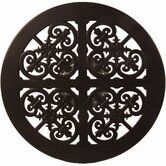 "Casual Fireside 27"" Round Hacienda Cast Aluminum Lazy Susan with Stand"
