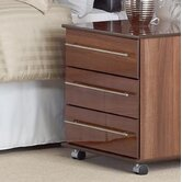 New York 3 Drawer Bedside Table