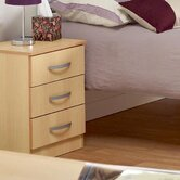 Budapest 3 Drawer Bedside Table